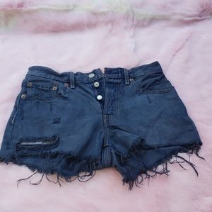 Dyed Denim cutoff Shorts